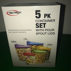 Tectron 5 Piece Container Set Brand New